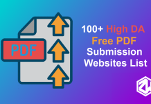 Top 100+ High DA Free PDF Submission Sites List